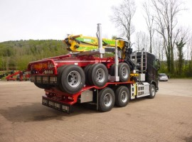 Forestry equipment for 3 axles forestry dolly Volvo 6x4 + crane DIEBOLT D28-87 + AR5670