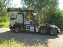 Forestry equipment for semi-trailer Volvo 6x4 + crane DIEBOLT D28-87