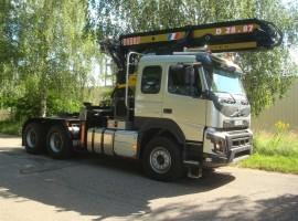 Equipement forestier pour semi-remorque Volvo 6x4 + grue DIEBOLT D28-87