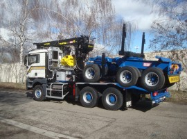 Forestry equipment for 3 axles forestry dolly MAN 6x4 + crane Tajfun-Liv 320K99 + AR5670