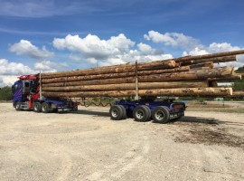 Forestry equipment for 3 axles forestry dolly Volvo 6x4 + crane Epsilon S300L98 + AR3670