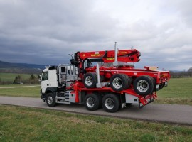 Forestry equipment for 3 axles forestry dolly Volvo 6x4 + crane Tajfun-Liv 300K87 + AR5670