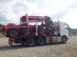 Aufbau fur Dreiachs-Langholznachläufer Volvo 6x4 + Krane Epsilon S270L98 + AR3670