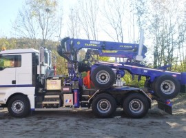 Forestry equipment for 2 axles forestry dolly MAN 6x4 + crane Tajfun-Liv 300K81 + AR2020