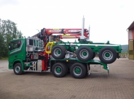 Forestry equipment for 3 axles forestry dolly Scania 6x4 + crane Tajfun-Liv 300K99 + AR5670