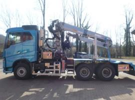 Aufbau fur Dreiachs-Langholznachläufer Volvo 6x4 + Krane Epsilon S300L98 + AR5670