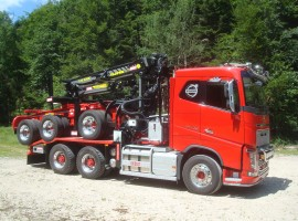Forestry equipment for 3 axles forestry dolly Volvo 6x4 + crane Tajfun-Liv 320K99 + AR5670
