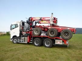 Forestry equipment for 3 axles forestry dolly Volvo 6x4 + crane Tajfun-Liv 300K99 + AR5670