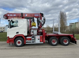 Forestry equipment for 3 axles forestry dolly with drawbar Scania 6x4 + crane DIEBOLT D28-87 + AR5650