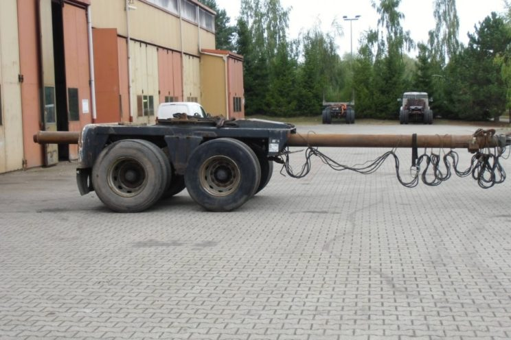 2 axles Diebolt dolly with drawbar