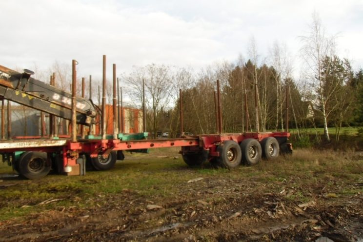 3 axles telescop semi-trailer Diebolt
