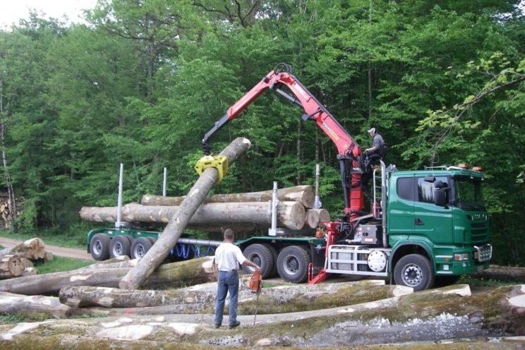 Dreiachs-Langholznachläufer mit Rohrdeichsellenkung