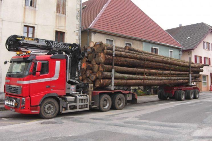 Arrière-train forestier 3 essieux directionnel