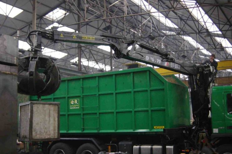 Handling crane, framework or recycling