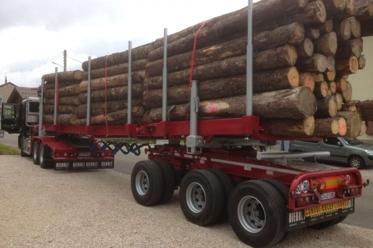 Plateau forestier amovible extensible
