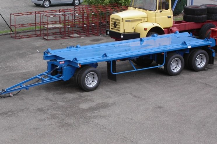Remorque porte-container ou porte-caisson 2 ou 3 essieux