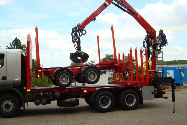 2 axles trailer for Switzerland and Germany