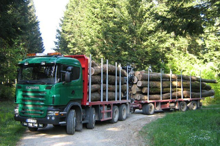 3 axles platform trailer
