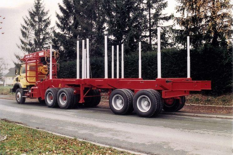 Semi-remorque extensible 2 essieux  hors UE