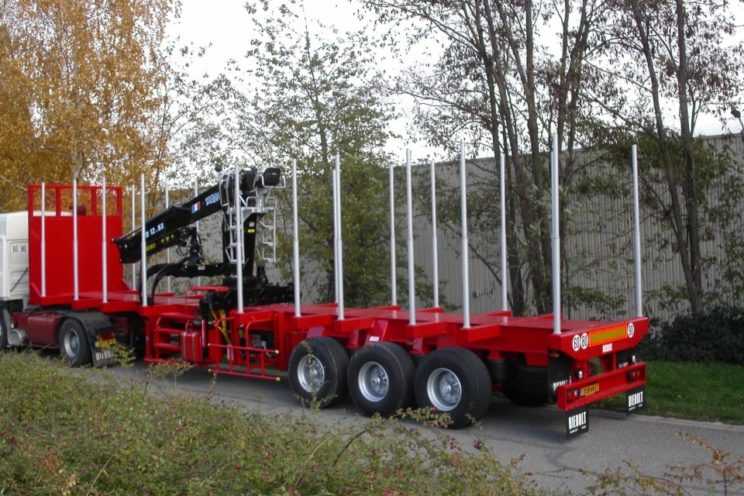 3 axles semi-trailer fixed frame with or without crane