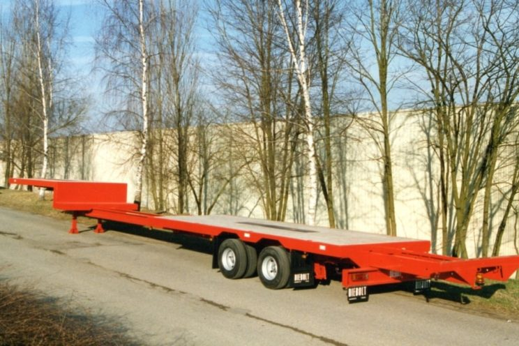 2 axles extendable semi-trailer for carpenter
