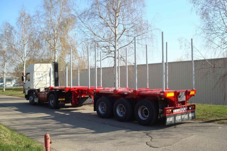 3 axles extendable semi-trailer with or without crane
