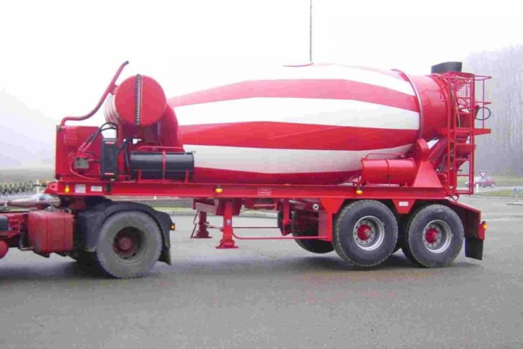 2 or 3 axles semi-trailer for concrete mixer